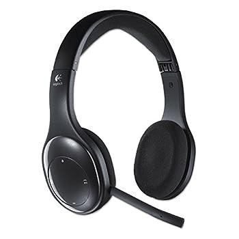 Logitech 981000337 H800 Binaural Over-The-Head Wireless Bluetooth Headset 4 ft Range Black