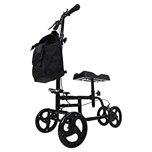 NEW DESIGN: A great alternative to crutches, the improved steerable knee scooter is designed for indoor and outdoor use. Perfect for those recovering from MCL injury or surgery of the lower leg, ankle or foot, including breaks, sprains and amputation...