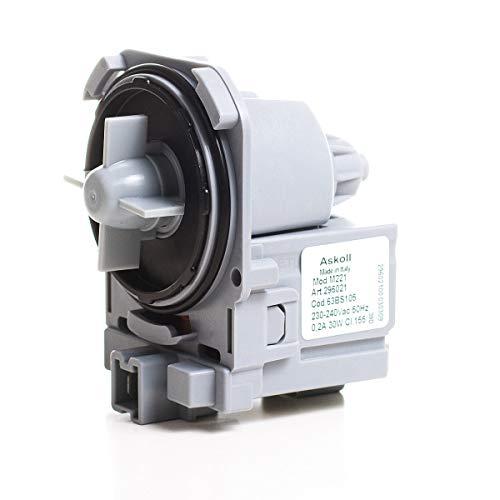 DREHFLEX - LP24 - Pumpe/Laugenpumpe passt für Askoll für Waschmaschine oder Spülmaschine - Bajonette-Verschluss Kompaktstecker vorn