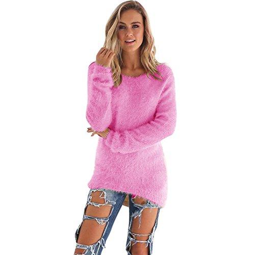 KaloryWee Heißer Damen Pullover Langarm Sweatshirt Herbst Winter Loose Casual Langarm warme Lange Bluse Tops