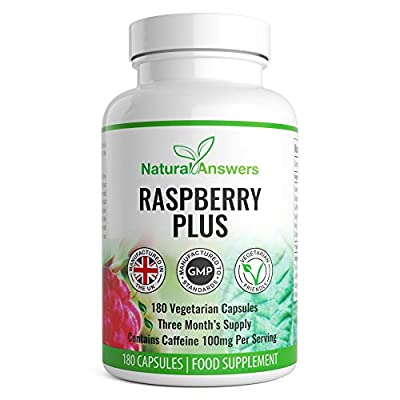 Raspberry Ketone Plus Weight Loss Food Supplement Support Pills 180 Capsules 3 Month Supply | High Quality Supplement For Men & Women | Vegetarian Friendly | UK Manufactured | Well Known Trusted Brand