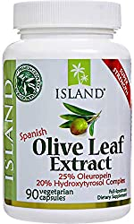 Real European Olive Leaf Extract, 25% Oleuropein - Super-Strength, 500 mg, 90 capsules, plus Hydroxytyrosol Complex. Professional-Strength by Island Nutrition