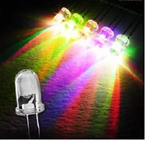 50 x LED 5mm matt/diffus Farbwechsel RGB Auto Regenbogen langsam…