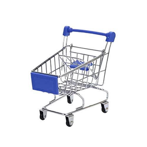 Tomaibaby Mini-Einkaufswagen Spielzeug Handwagen Einkaufswagen Handyhalter Aufbewahrungskorb für zu Hause Geburtstag Baby Dusche Tisch Herzstück Dekoration Geschenke