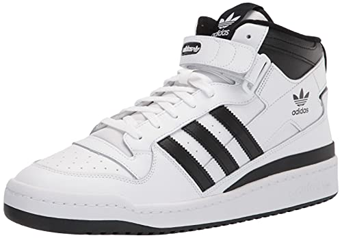 adidas Originals Men's Forum Mid Sneaker, White/Black/White, 8.5