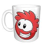 Tazza da caffè in ceramica con pinguino rosso e divertente per casa e ufficio, per feste