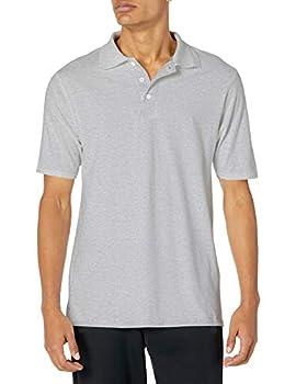 Hanes mens X-Temp Performance Polo Shirt,Light Steel,Large
