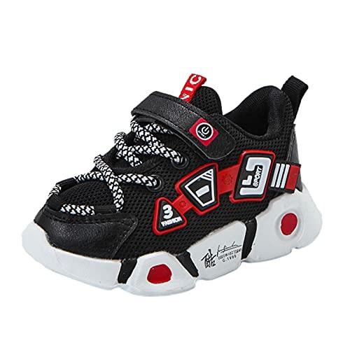 USYFAKGH Baby Boys Girls Dress Shoes Toddler Children Kids Baby Girls Boys Leather Mesh Sneakers Sport Shoes Sandals Rain Shoe Little Kid Black 11.5