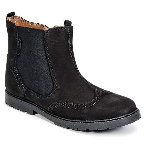 Start-rite Digby, Chelsea Boots Mixte, Cuir ciré Noir, 36.5 EU
