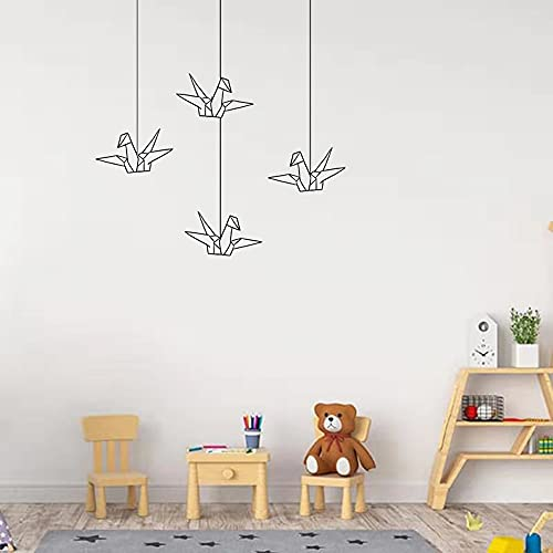 Origami pájaro pared pegatina papel geométrico grúa decoración pegatina vinilo pájaro calcomanía arte habitación hogar pared pegatina A9 42x42cm
