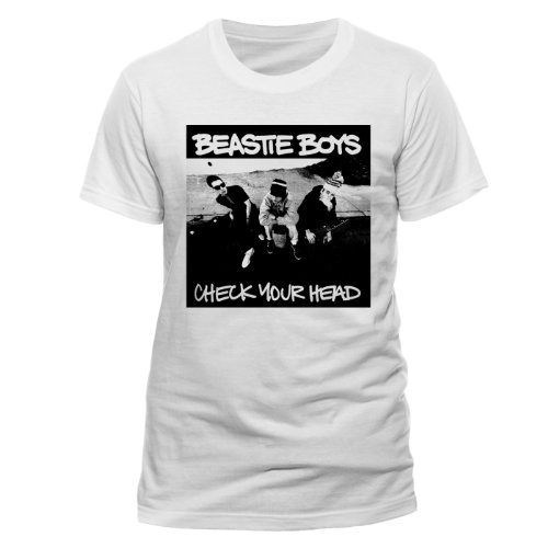 Live Nation Herren Beastie Boys-Check Your Head T-Shirt, Weiß, (Herstellergröße: XX-Large)