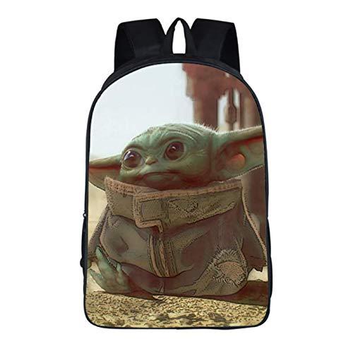 Jiamins Advanced Rucksack, Unisex, für Jugendliche und Erwachsene, Schulrucksack, Studenten, Laptop-Tasche, 40,6 cm (16 Zoll), Herren, Baby Yoda-6