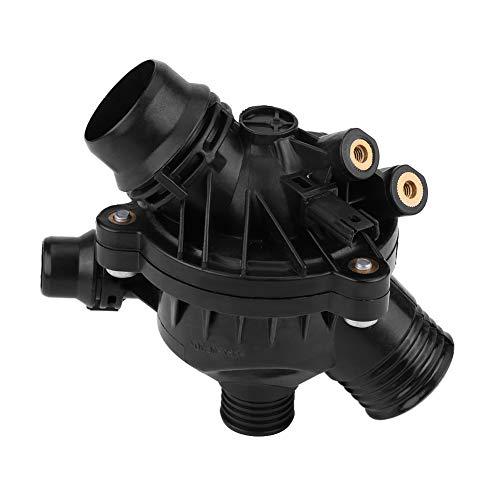 Fydun Termostato de salida de agua de refrigerante del motor de coche con sello de carcasa para E90 330 E60 OE: 11537549476