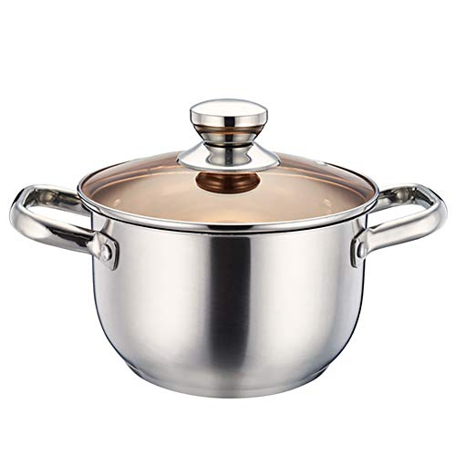 Stainless Steel Stockpot with Lid, Heavy Duty Induction Soup Pot with Lid
