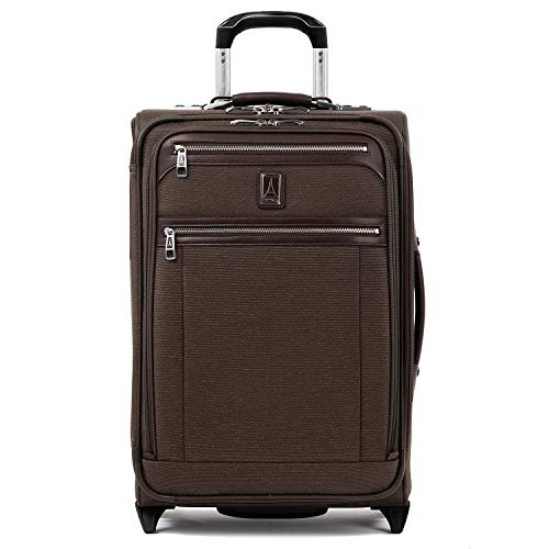 Travelpro Platinum Elite-Softside Expandable Upright Luggage, Rich Espresso, Carry-On 22-Inch