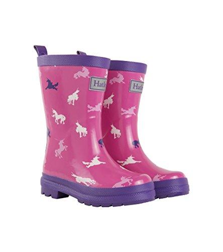 Hatley Mädchen Rain Boots Gummistiefel,Rosa  (Unicorn Silhouettes 650), 24 EU