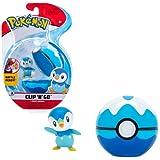Pokemon Clip n Go Battle Ready Set Piplup con bola de poke de DiveBall