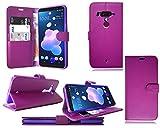 HTC U12+ Plus New Premium Leather Flip Wallet Phone Case
