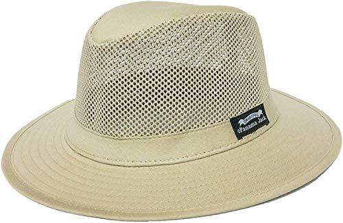 "Panama Jack Original Mesh Safari Hat, 2 1/2"" Brim, UPF (SPF) 50+ Sun Protection (Large) Khaki"