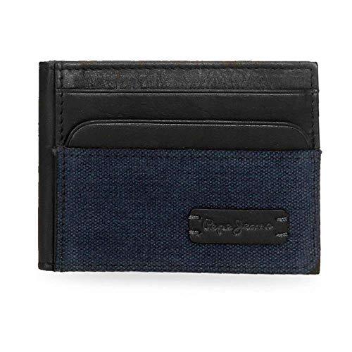 Pepe Jeans Royce Tarjetero Azul 9,5x7,5 cms Lona