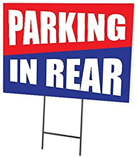Parking In Rear Full Color Double Sided Sign