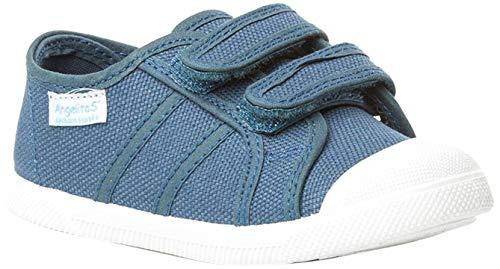 Zapatillas de Lona Para Niños con Puntera Reforzada, Mod.128, Calzado infantil Made In Spain (32, Azul Jeans)