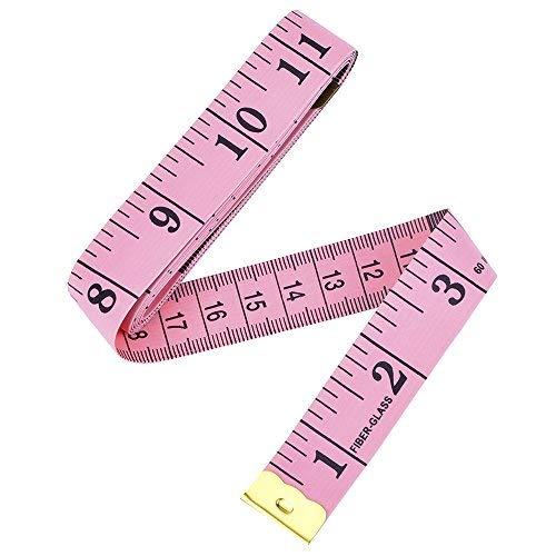 60 Pouces150 cm Ruban à Mesurer Doux sur Mesure pour Tissu Taille Soutien-Gorge Circonférence de la Tête...