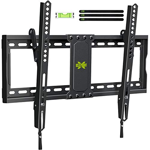 USX MOUNT TV Wall Mount Tilting Brackets for Most 37'-70' LED 4K OLED Flat Screens, TV Mount with...