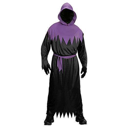 Widmann Kinderkostuum Phantom, Robe met capuchon, onzichtbaar gezichtsmasker en riem 140 zwart