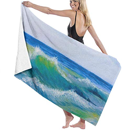 Bath Towels strandhanddoek, Sea Waves, strandhanddoeken, dames, spa, zwembadjas, verdoek, printen, douchebak, handdoeken