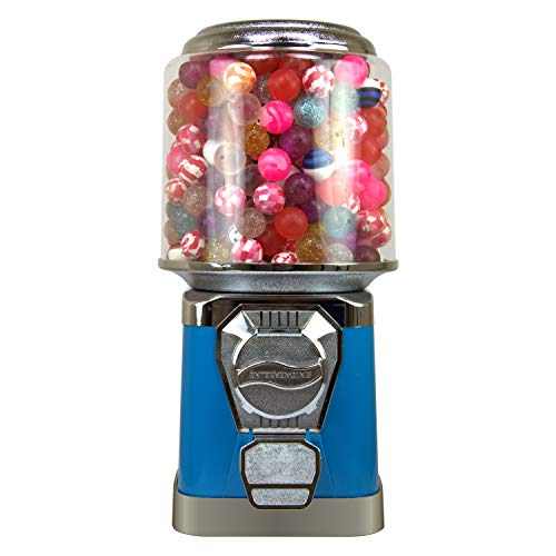 Gumball Machine for Kids - Blue Vending Machine with Cylinder Bank - Bubble Gum Machine for Kids - Home Vending Machine - Coin Gumball Machine - Bubblegum Machine - Gum Ball Machine Without Stand