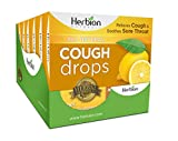 Herbion Naturals Cough Drops with Honey Lemon Flavor – 18 Ct – Oral Anesthetic - Relieves Cough - Soothes Sore Throat and Dry Mouth – Eases Bronchial Irritation - for Adults, Children 6 + | Pack of 6