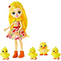 Enchantimals- Muñeca Dinah Duck con su mascota el pato Slosh (Mattel GJX45)