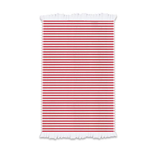 THEAILATI Toalla de playa Sorrento 100% algodón 170 x 90 cm Maestri Cotonieri Home-Rojo