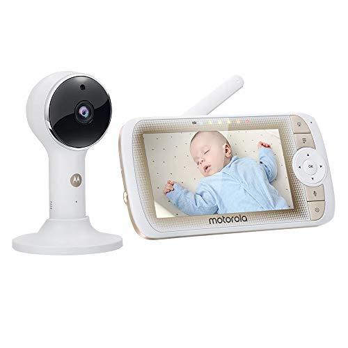 Vigilabebés con video Motorola LUX65 Connect con pantalla de 5 pulgadas, PTZ, inalámbrico
