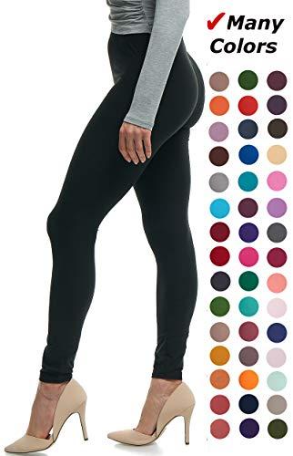 Lush Moda Extra Soft Leggings - Many Colors - Black - Plus Size