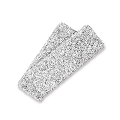 CLEANmaxx Ersatz-Wischtuch 2er-Set grau Easy Mopp für Wischsystem Komfort-Mopp Wischmop & Eimer mit 2 Kammer System