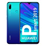 Huawei P Smart 2019 - Smartphone de 6.2', 3 GB RAM, 64 GB, 13 MP + 2 MP, Dual SIM, Funda incluida, Color Azul