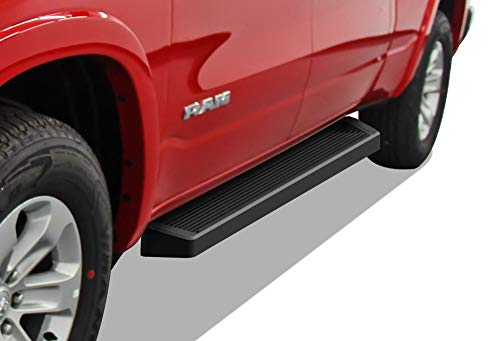 APS iBoard Black Running Boards Style Custom Fit 2019-2020 Ram 1500 Crew Cab Pickup 4Dr (Will Not Fit 2018 Previous Generation Build in 2019) (Nerf Bars Side Steps Side Bars)