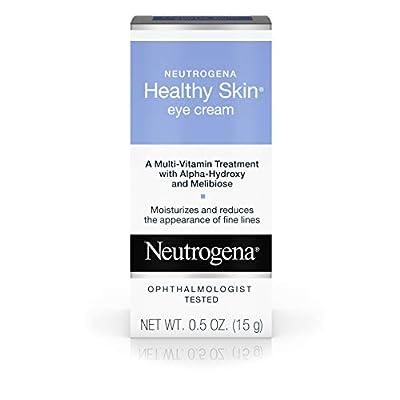 Neutrogena Healthy Skin Eye Firming Cream with Alpha Hydroxy Acid, Vitamin A & Vitamin B5 - Eye Cream for Wrinkles with Glycerin, Glycolic Acid, Alpha Hydroxy, Vitamin A, Vitamin B5, Vitamin C, 0.5 oz