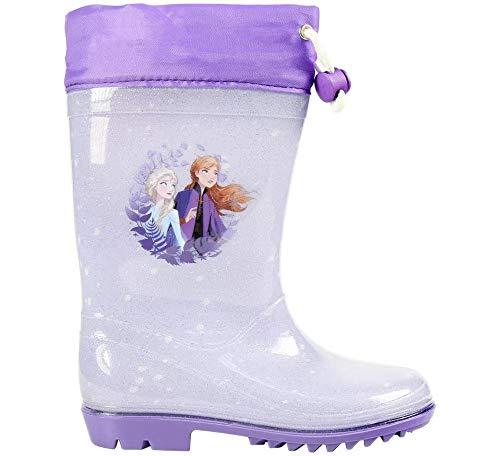 Frozen Eiskönigin Gummistiefel Regenstiefel Stiefel Schuhe Gr. 28 lila *Neu*Ovp*