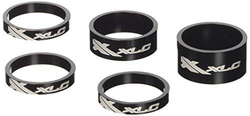 XLC Unisex– Erwachsene Lenkkopferweiterung A-Head Spacer-Set AS-A02 3x5/1x10/1x15 mm 1 Zoll, Schwarz, One Size
