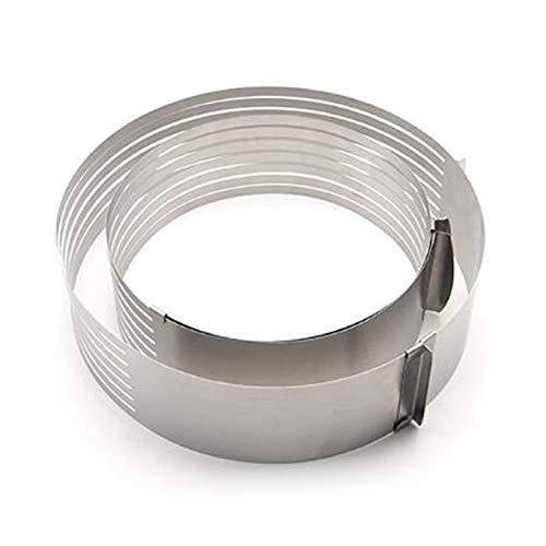 Casinlog - Juego de 2 anillos redondos de acero inoxidable con varias capas ajustables para moldeo circular, 2 unidades