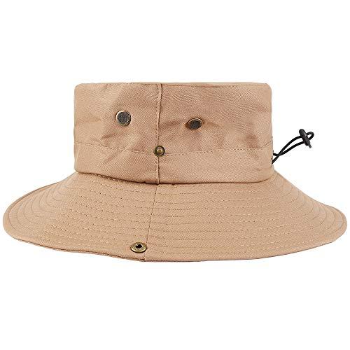 Hospaop Hut Herren Sommer Outdoor, Sonnenhut Männer UV Schutz, Fischerhut Unisex Faltbar Atmungsaktiv, Wanderhut Erwachsene Sun Caps