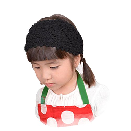 (カジュアルボックス)CasualBox キッズ:ニットハンドメイドターバンヘアバンド 8色 フリーサイズ 帽子 子供 キッズ 帽子 Charm チャーム (ブラック)