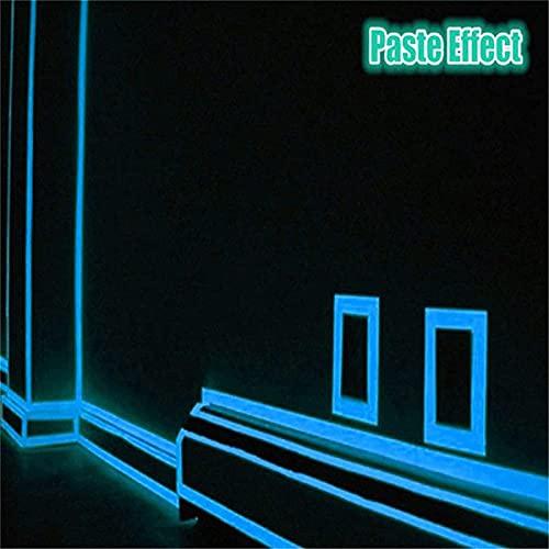 Etiqueta de la pared de la tira luminosa familiar, etiqueta engomada del coche del piso fluorescente de DIY, papel pintado autoadhesivo para el coche de la etapa del piso de las escaleras