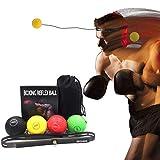 Lixada Boxen Reflex Bälle Reflex Fightball mit Silikon Fitness Stirnband Stanzen Trainingsbälle Set