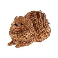 動物モデル 置物 子供 おもちゃ 犬 牛 フィギュア 装飾 コレクション 動物知識 教育玩具 全7種 - ブラウンポメラニアン
