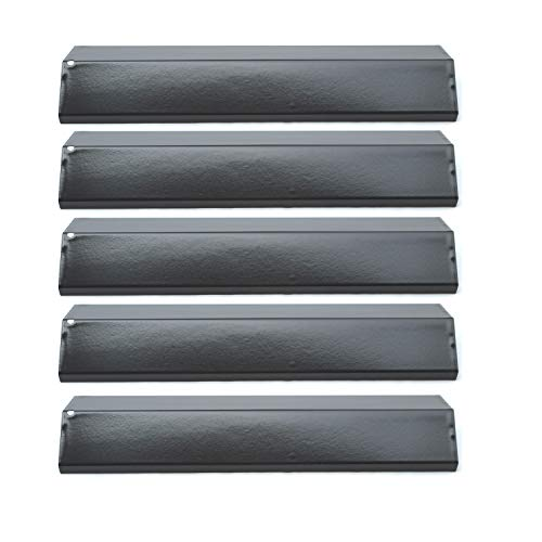 Direct Store Parts DP134 (5-Pack) Porcelain Steel Heat Shield/Heat Plates Replacement for Brinkmann, Aussie, Charmglow, Grill King, Uniflame, Master Forge, Grill King, Tera Gear Gas Grill Models (5)