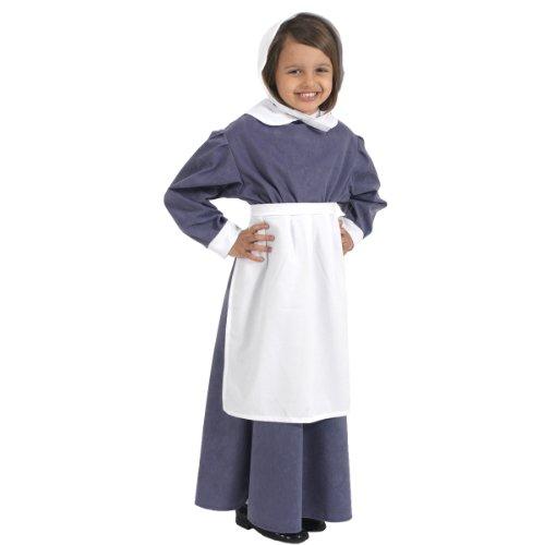 Déguisement Blanc Tablier pour Les Enfants. Taille Unique 3-9 Ans.